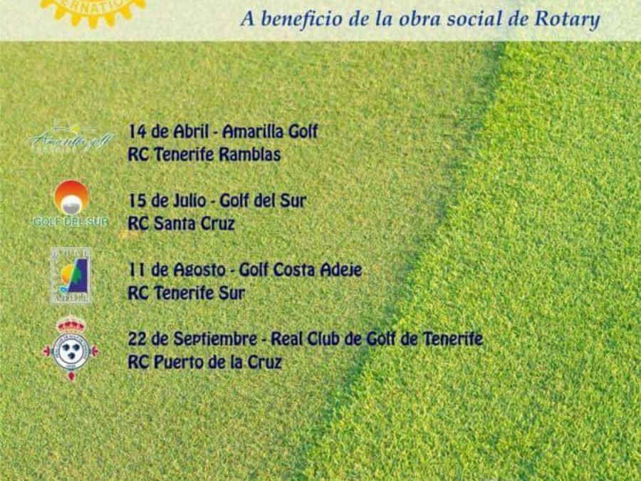 Este sábado 22 de octubre ha tenido lugar el ultimo torneo del III Circuito Solidario de Golf Rotary Tenerife 2018