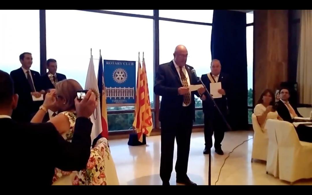 Guido Giannoli, compañero del Club de Tenerife Sur gana el premio Rotario del Año.