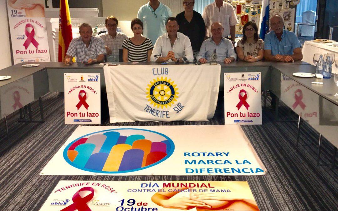 Rotary colabora con Abic en «Tenerife en Rosa»