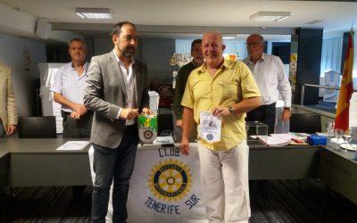 Visita de un compañero Rotario del Club Britanico de Durham