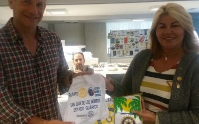 Recibimos la visita de la compañera Rotaria Dinora Machado del Rotary Club de San Juan de los Morros de Guarico en Venezuela.