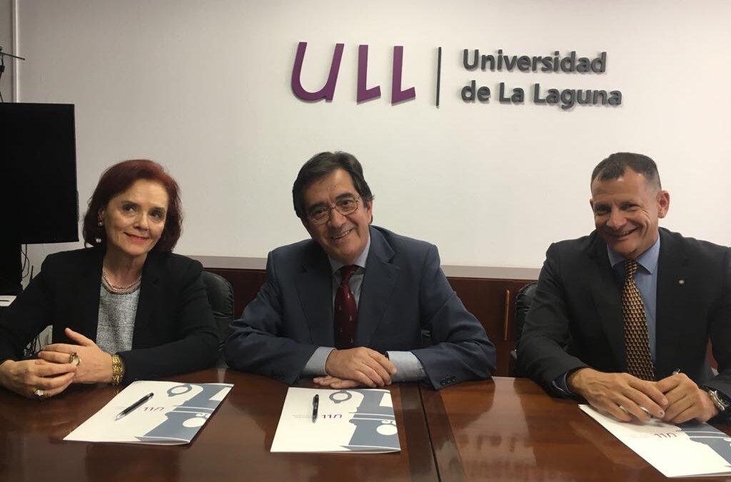 Firmado el Convenio de Colaboración entre la Universidad de la Laguna y los Clubes Rotarios de Tenerife sur y La Laguna.