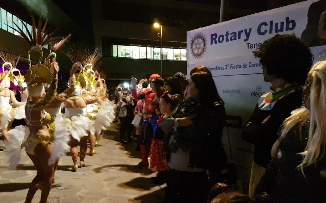 Gran éxito de la II edición de la Fiesta de Carnaval del Rotary Club Tenerife Sur.