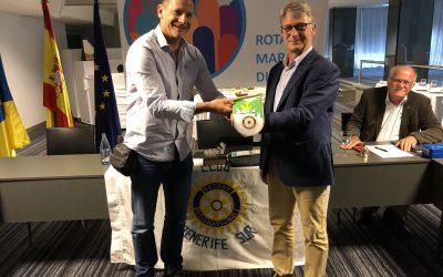 Visita del compañero Ulrich Buehler del Rotary Club Rhoen de Alemania