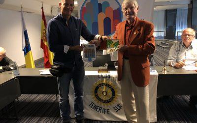 Visita del compañero Hartmut Alberts del Club Rotario de Cannes en Francia