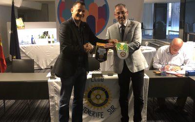 Visita del compañero Rotario Mauricio Garcia del Rotary Club de Perpignan en Francia
