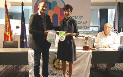 Visita de la Compañera Rotaria Elisa Debernardi del Club de Pinerolo-Torino de Italia