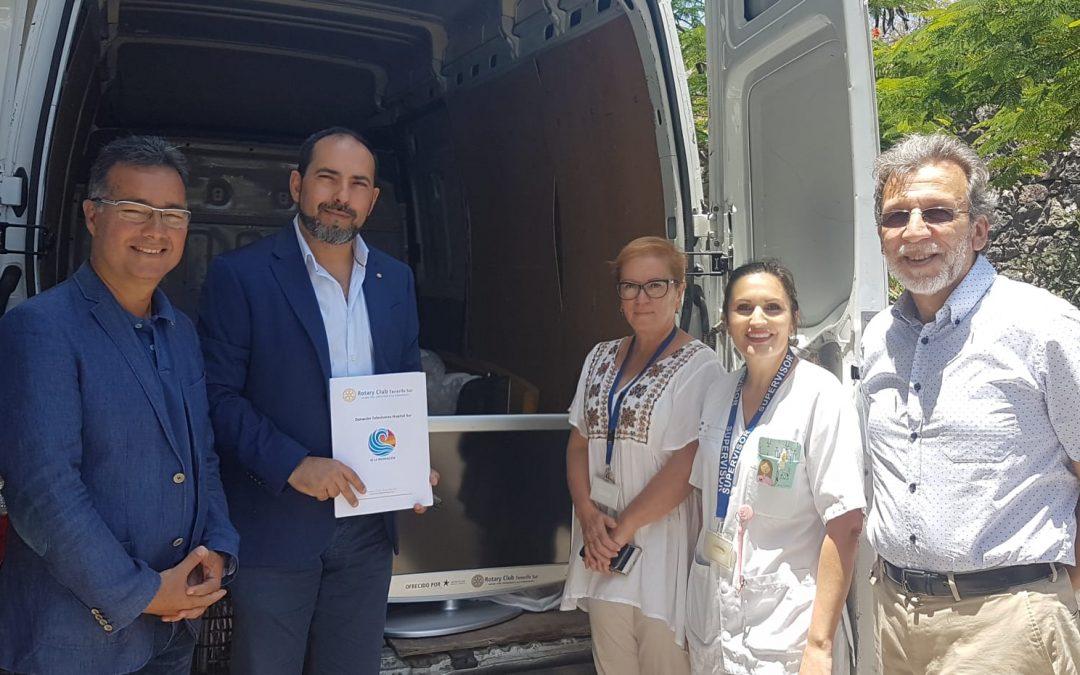 Rotary Club Tenerife Sur y Iberostar Hoteles dotan de televisores al Hospital Público de la comarca