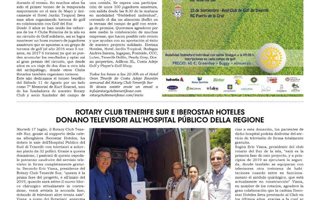 Vivi Tenerife – Torneo de Golf y entrega de televisores a Hospital