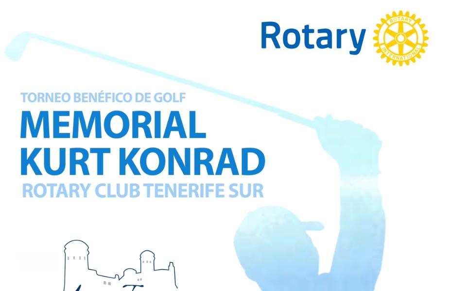 """Exito de participación del Torneo de Golf """" Memorial Kurt Konrad"""" que un año más organiza nuestro Club dentro del circuito insular de Rotary"""