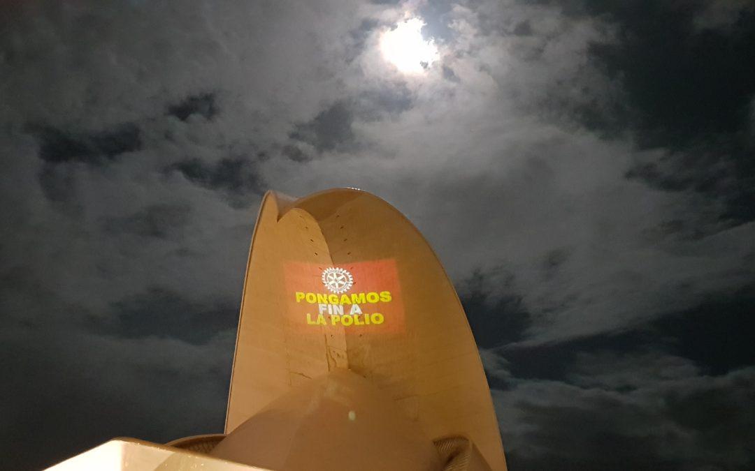 Los rotarios de Tenerife conmemoran el Día Mundial contra la Polio en el Auditorio de Tenerife