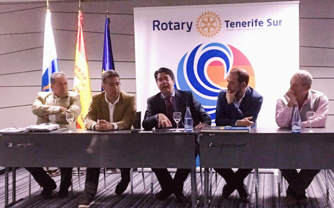 Pedro Martín, alcalde de Guía de Isora y candidato al Cabildo de Tenerife visita el Rotary Club Tenerife Sur