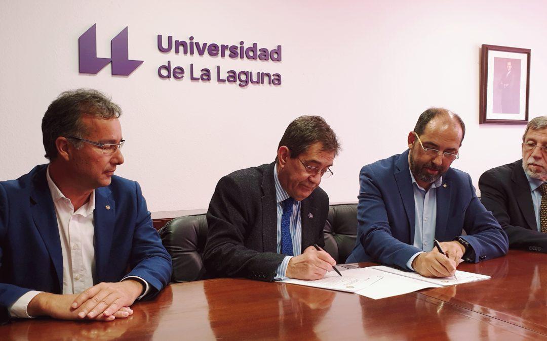 Rotary Tenerife Sur  firma un nuevo convenio de colaboración con la Universidad de La Laguna