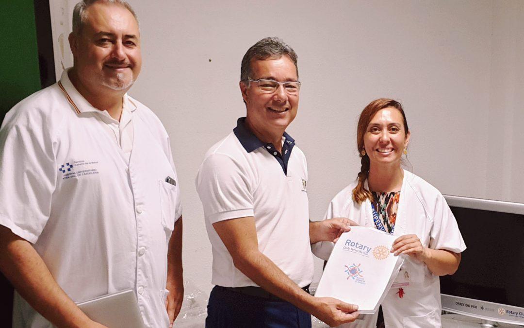 Los rotarios del Sur de Tenerife donan otros 30 televisores al Hospital Público del Sur