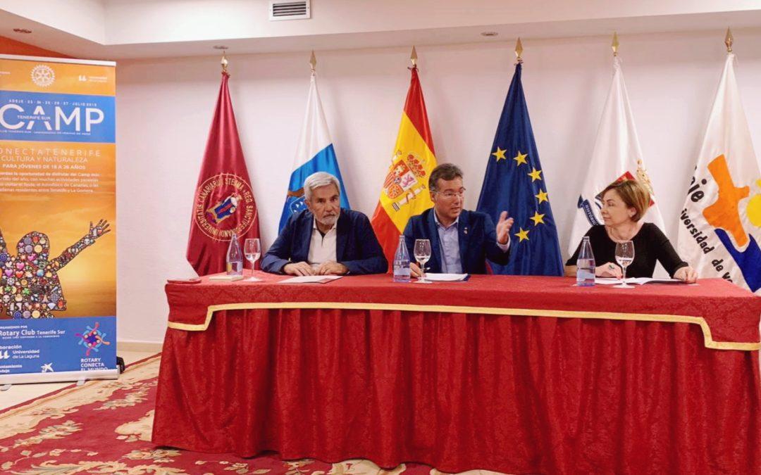 Rotary Club Tenerife Sur presenta su I CAMP rotario con el lema  «ConectaTEnerife»