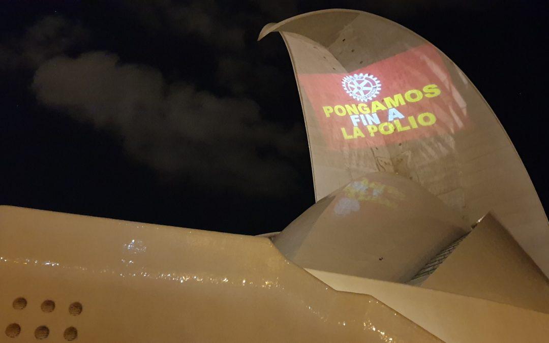 Los rotarios de Tenerife conmemoran el Día Mundial contra la Polio