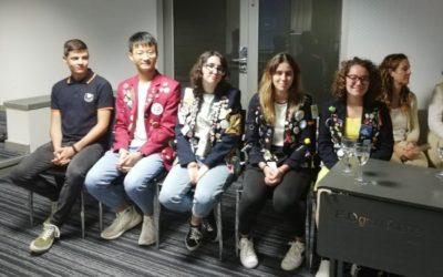 Los estudiantes de intercambio del Rotary Club Tenerife Sur 2018/2019 visitan el club.