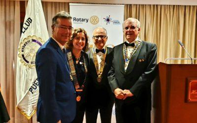 Rotary Club Tenerife Sur acompaña en su 40° Aniversario al Club del Puerto de la Cruz