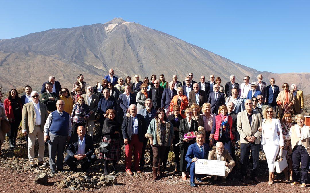 Los rotarios de Tenerife celebran el 115 aniversario de Rotary y donan 10.000€ a tres organizaciones sociales de la isla.