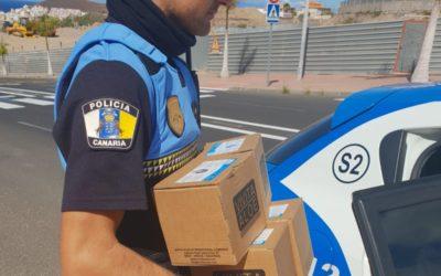 Los rotarios del Sur de Tenerife realizan una nueva entrega de material de protección
