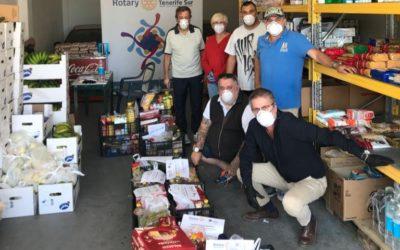 Los rotarios del Sur de Tenerife comienzan la semana redoblando sus esfuerzo de ayuda