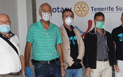 Los rotarios del Sur de Tenerife trabajan intensamente en varios frentes de ayuda.