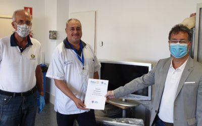 Rotary Club Tenerife Sur dona otros 10 televisores al Hospital Universitario de La Candelaria