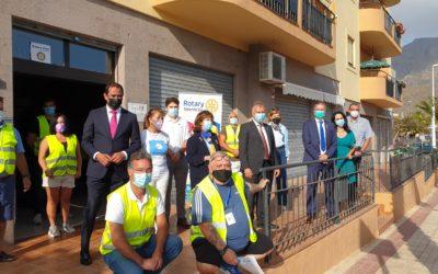 Visita del Presidente del Gobierno de Canarias a la despensa solidaria del Rotary Club Tenerife Sur