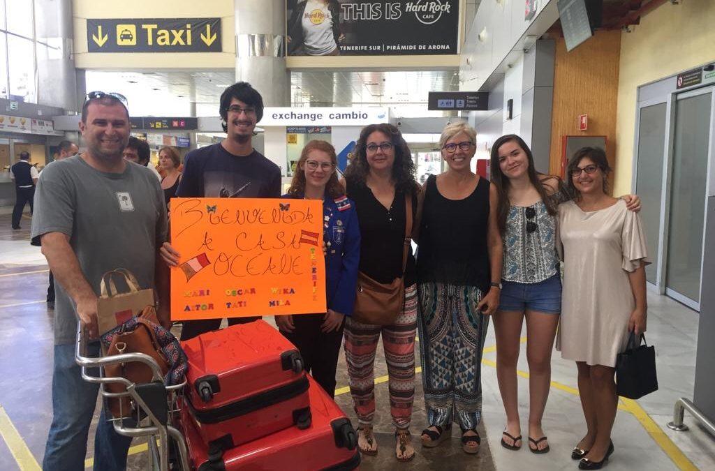 Llegan a Tenerife los 3 estudiantes de intercambio
