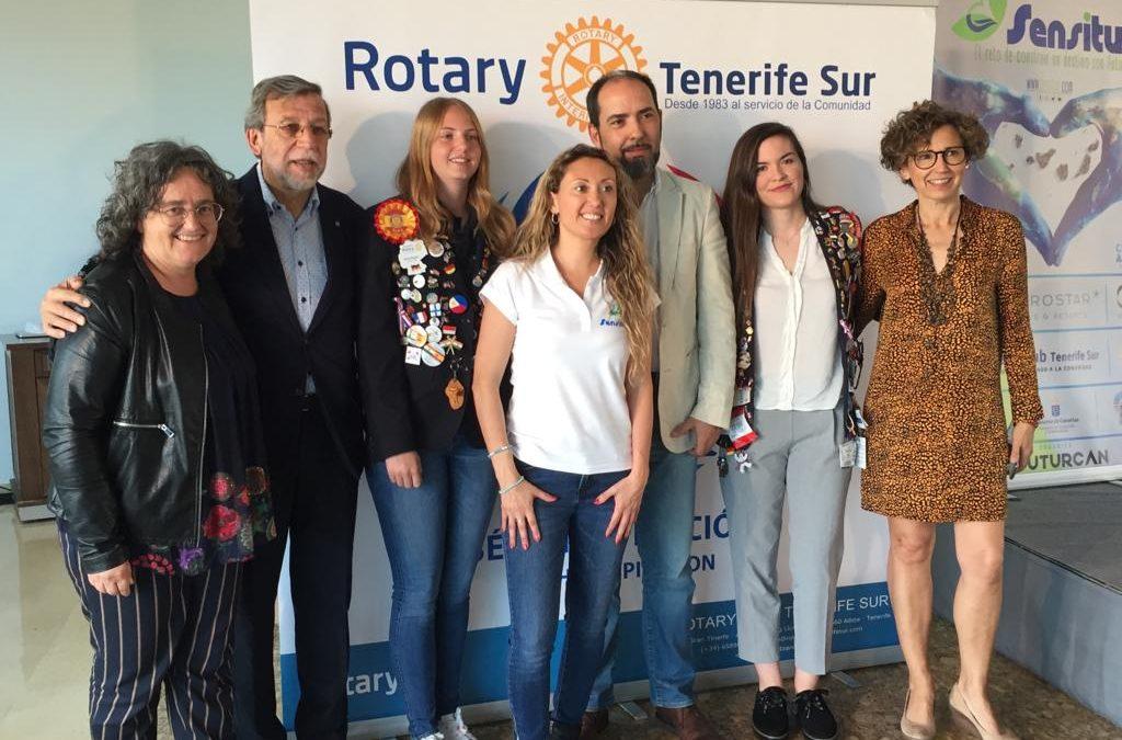 Rotary Club Tenerife Sur participa en las Jornadas de Sensibilización SENSITUR de Adeje organizadas por Futurcan