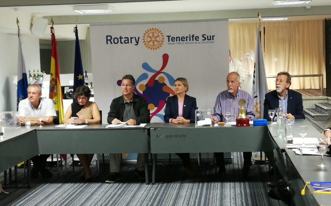 Brigitte Gypen visita Rotary Club Tenerife Sur dentro del Ciclo «Mujeres Destacadas del Sur de Tenerife»
