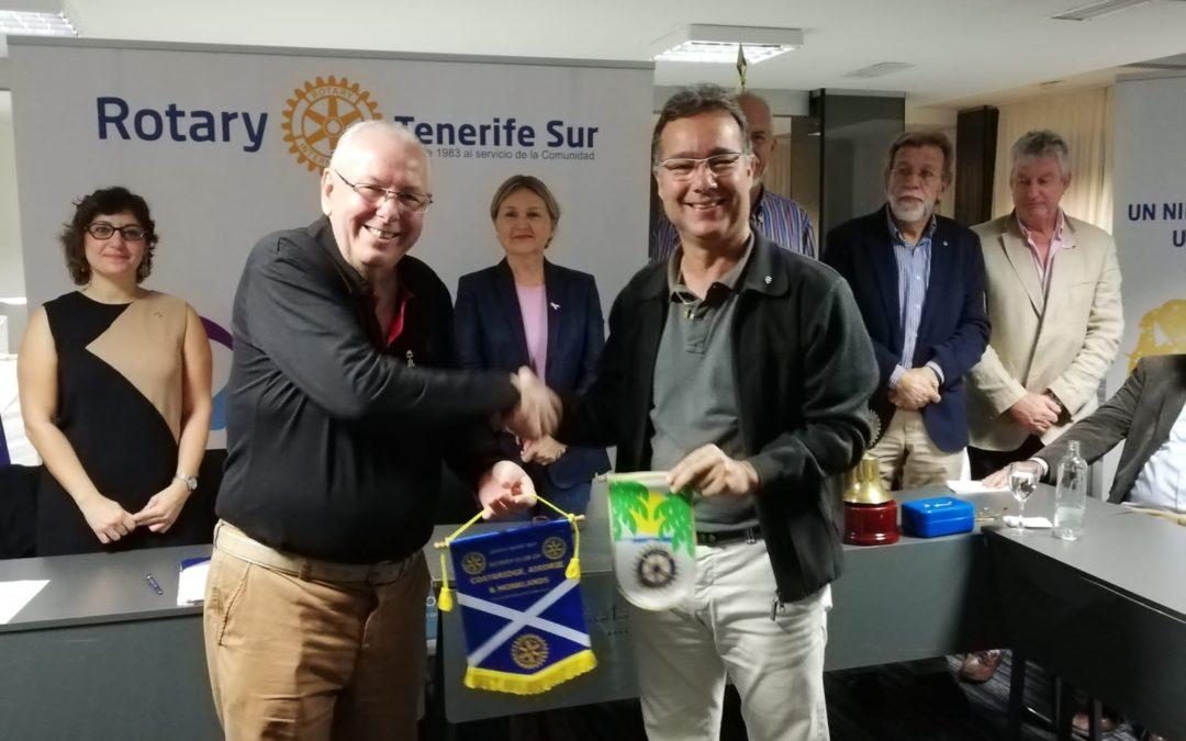 Visitan nuestro club diversos presidentes rotarios europeos