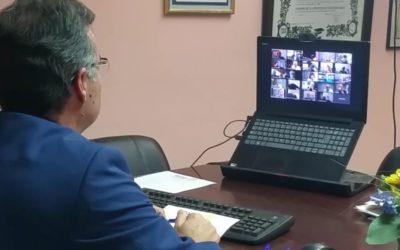Los rotarios del Sur de Tenerife mantienen su primera video reunión semanal del club