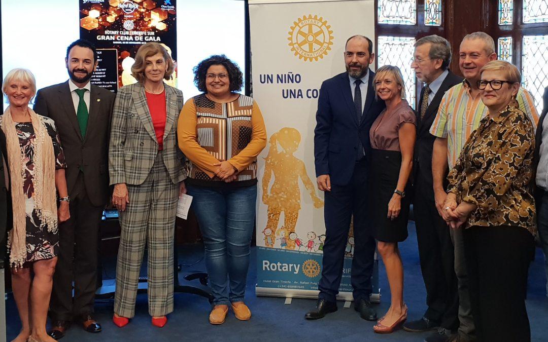 El Cabido de Tenerife  apoya la gala del Rotary Club para ayudar a los escolares con escasos recursos