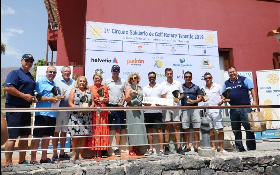 Celebrada la cuarta prueba del Circuito Solidario de Golf Rotary Tenerife a favor de «La Escuelita»