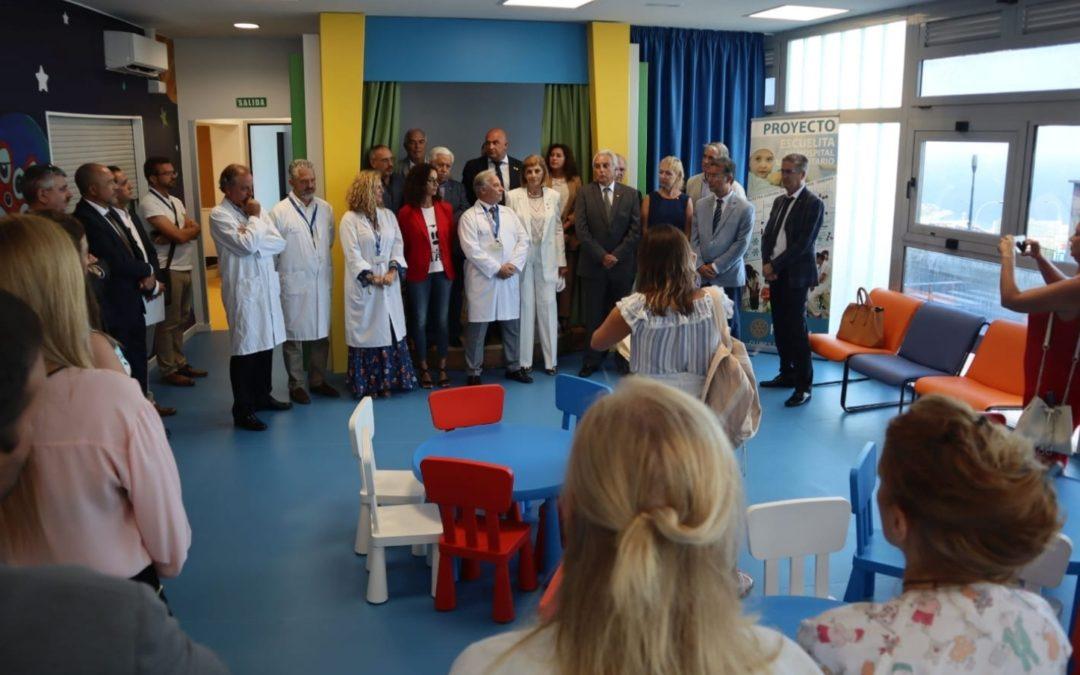 Se inaugura LA ESCUELITA en Oncología Pediátrica del Hosp. de La Candelaria en Tenerife