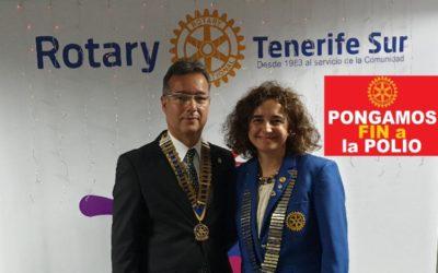 Rotary Club Tenerife Sur contribuye con la Campaña contra la Polio