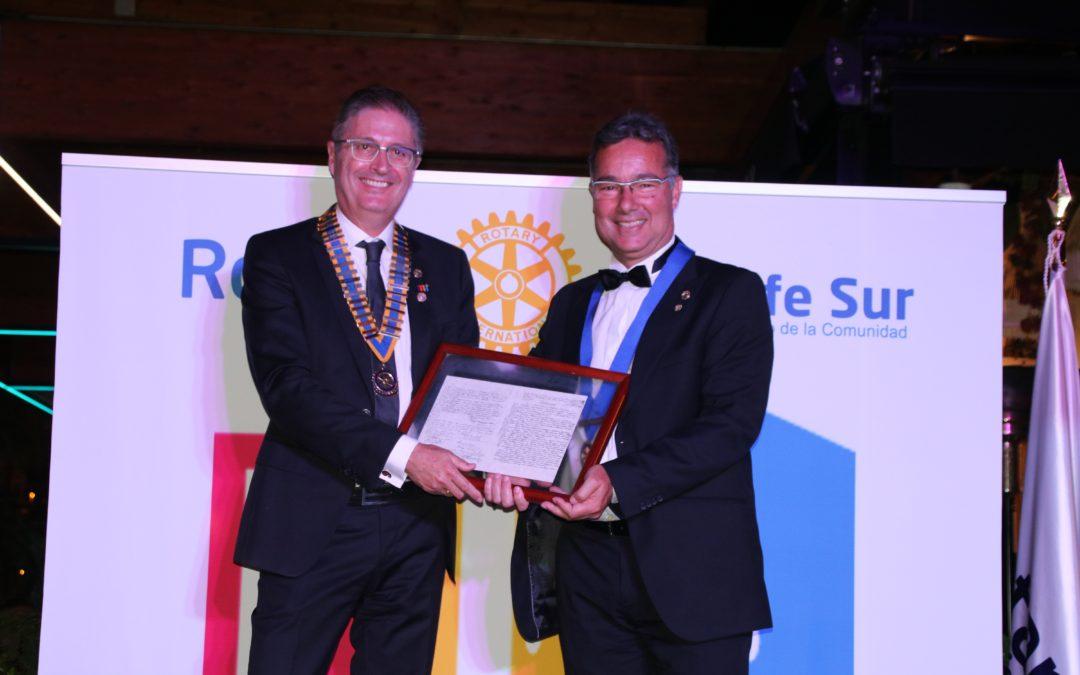 Juan Diego Mayordomo nuevo presidente del Rotary Club Tenerife Sur para el año rotario 2020-2021