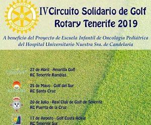 El próximo día 17 de agosto tendrá lugar el Torneo de Golf Rotary Club Tenerife Sur